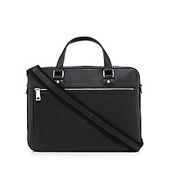 Hammond & Co. by Patrick Grant - Black two handle leather briefcase