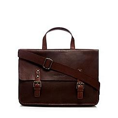 RJR.John Rocha - Tan leather two handle briefcase