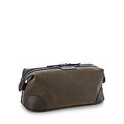 J by Jasper Conran - Brown flocked wash bag