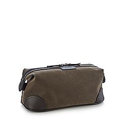 J by Jasper Conran - Brown flocked wash bag