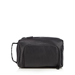 J by Jasper Conran - Black zip top wash bag