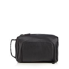 J by Jasper Conran - Black zip top wash bag