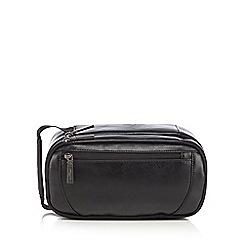Jeff Banks - Black double zip wash bag