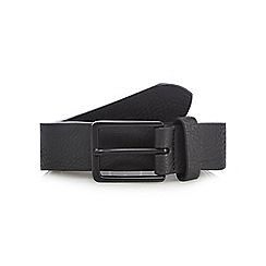 Red Herring - Black leather skinny belt