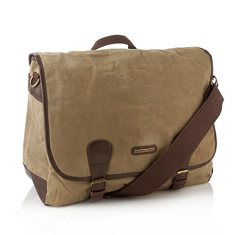 Weird Fish - Natural waxed messenger bag