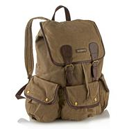 Natural waxed backpack