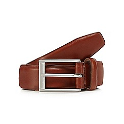 J by Jasper Conran - Brown leather nubuck lined belt