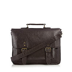 Red Herring - Brown textured satchel bag