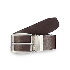 Jeff Banks - Black and dark brown reversible leather belt