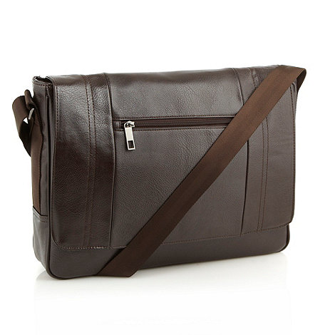 J by Jasper Conran - Designer brown panel laptop bag