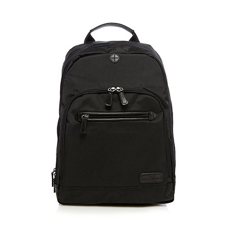 J by Jasper Conran - Designer black padded laptop backpack