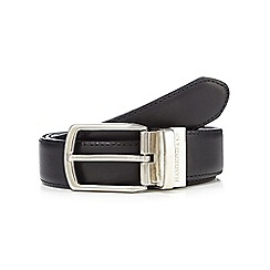 Hammond & Co. by Patrick Grant - Black and brown leather reversible pin buckle belt