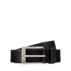 Tommy Hilfiger - Black leather pin buckle belt