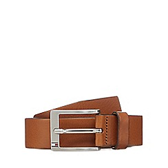 Tommy Hilfiger - Tan leather pin buckle belt