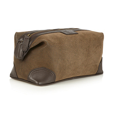 J by Jasper Conran - Designer brown flocked wash bag