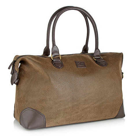 J by Jasper Conran - Designer brown flocked holdall
