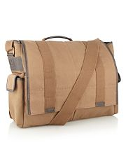 Designer natural twill satchel bag