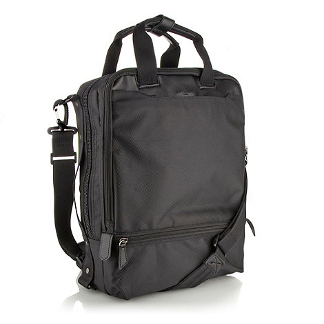Jeff Banks - Designer black laptop backpack