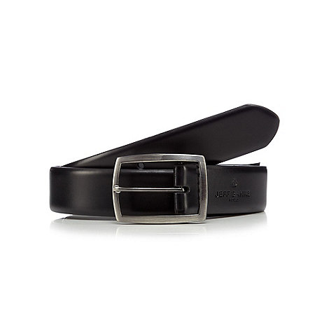 Jeff Banks - Designer black pin buckle leather belt