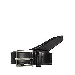 Jeff Banks - Designer black logo debossed coated leather belt