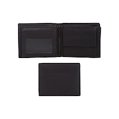 J by Jasper Conran - Black leather debossed logo wallet