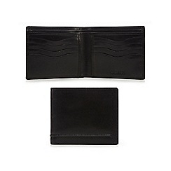 Dents - Black stitch detail wallet in a gift box