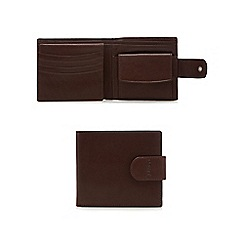 Dents - Brown embossed strap wallet