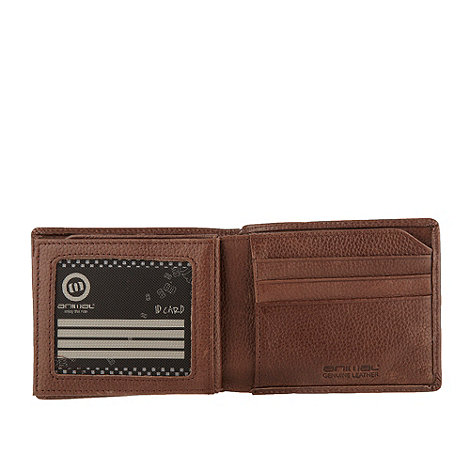 Animal - Brown oversized logo leather wallet