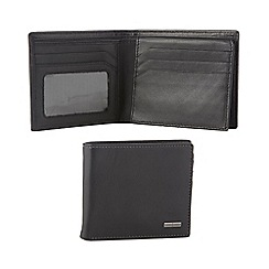 J by Jasper Conran - Black leather flip section wallet in a gift box