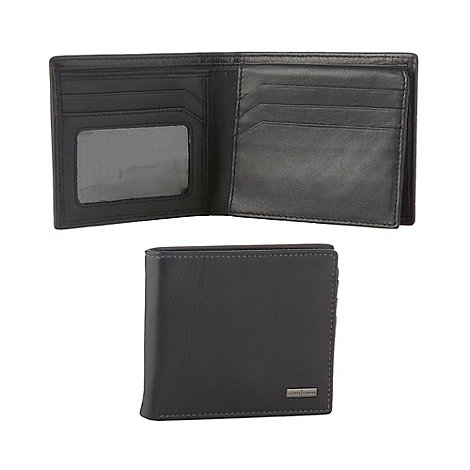 J by Jasper Conran - Designer black leather flip section wallet