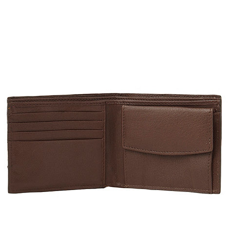 J by Jasper Conran - Designer tan logo Italian leather billfold wallet