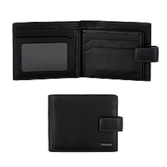 J by Jasper Conran - Designer black double swing tab wallet