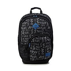 Animal - Black logo print backpack