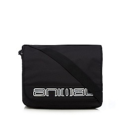 Animal - Black logo applique despatch bag