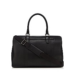 J by Jasper Conran - Black leather holdall bag