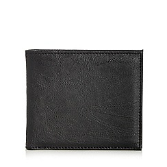 Red Herring - Black faux leather billfold wallet
