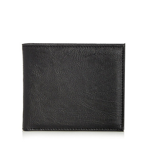 Red Herring - Black leatherette billfold wallet