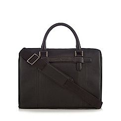 J by Jasper Conran - Black leather two handle bag