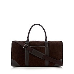 J by Jasper Conran - Brown suede holdall