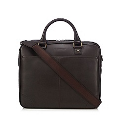RJR.John Rocha - Brown leather briefcase