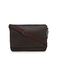 RJR.John Rocha - Dark brown leather despatch bag