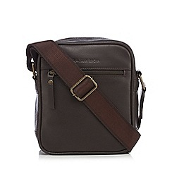 RJR.John Rocha - Dark brown leather cross body bag