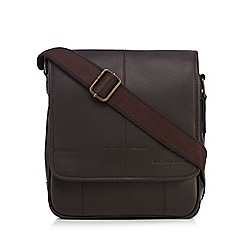 RJR.John Rocha - Dark brown leather utility bag