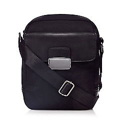 The Collection - Black clasp pocket cross body bag