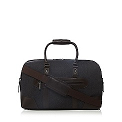 Jeff Banks - Dark grey wool blend holdallbag