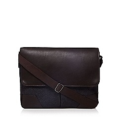 Jeff Banks - Dark grey wool blend despatch bag