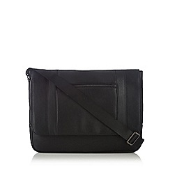 J by Jasper Conran - Black zip front despatch bag