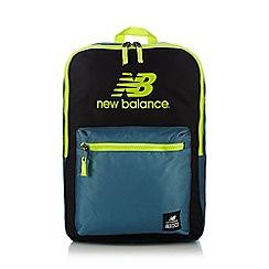 New Balance - Blue logo printed backpack