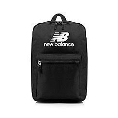 New Balance - Black logo printed backpack