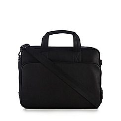The Collection - Black two handle briefcase